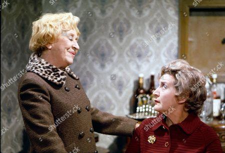 Doris Speed (as Annie Walker) and Mollie Sugden (as Nellie Harvey)