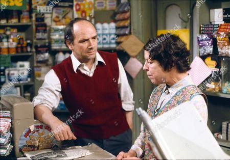 Richard Davies (as Idris Hopkins) and Jessie Evans (as Granny Hopkins)