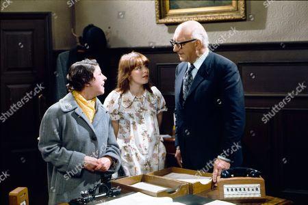Jessie Evans (as Granny Hopkins), d Kathy Jones (as Tricia Hopkins) and Norman Scace (as Mr Morgan)