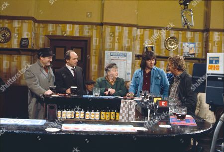 Donald Morley (as Fred Bolton), Richard Davies (as Idris Hopkins), Margot Bryant (as Minnie Caldwell), Neville Buswell (as Ray Langton) and Peter Adamson (as Len Fairclough)