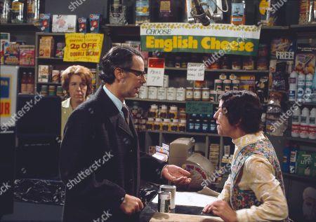 Kathy Staff (as Vera Hopkins), Stephen Hancock (as Ernest Bishop) and Jessie Evans (as Granny Hopkins)