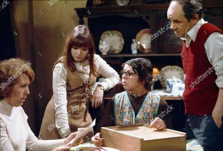 Kathy Staff (as Vera Hopkins), Kathy Jones (as Tricia Hopkins), Jessie Evans (as Granny Hopkins) and Richard Davies (as Idris Hopkins)