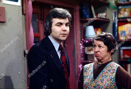 Bill Kenwright (as Gordon Clegg) and Jessie Evans (as Granny Hopkins)