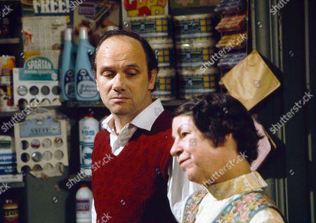 Stock Photo of Richard Davies (as Idris Hopkins) and Jessie Evans (as Granny Hopkins)