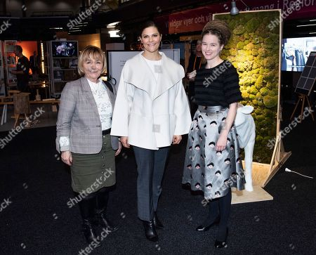 Stock Image of Crown Princess Victoria together with former Minister of Justice, Beatrice Ask, and Minister for Culture, Amanda Lind, attended the opening of the conference