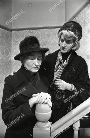 Ep 1775 Wednesday 18th January 1978 Emily Bishop braces herself for the ordeal of Ernie's funeral. With Emily Bishop, as played by Eileen Derbyshire ; Norah Seddon, as played by Cynthia Michaelis.