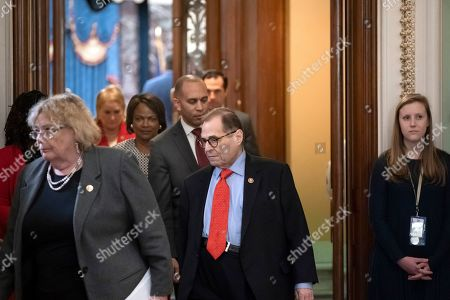 Zoe Lofgren, Jerrold Nadler. House Democratic impeachment managers Rep. Zoe Lofgren, D-Calif., left, and House Judiciary Committee Chairman Jerrold Nadler, D-N.Y., leave the Senate chamber after the acquittal of President Donald Trump on charges of abuse of power and obstruction of Congress at the Capitol in Washington