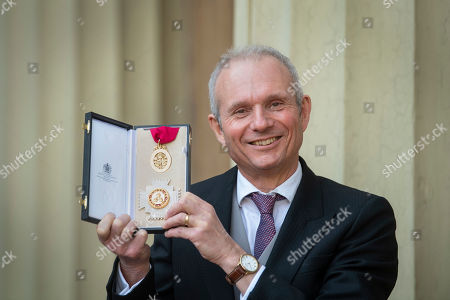 Stock Picture of Sir David Lidington after receiving a knighthood for political and public service at an investiture ceremony at Buckingham Palace