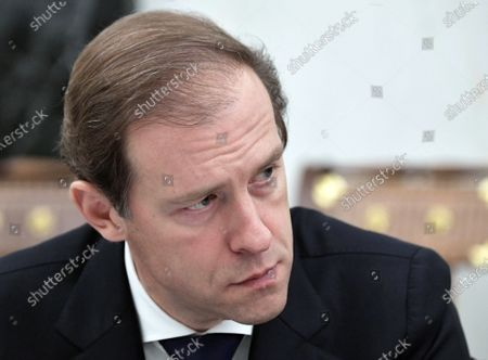 Russian Industry and Trade Minister Denis Manturov attends a meeting of Russian President with members of the Russian government at the Kremlin in Moscow, Russia, 05 February 2020.
