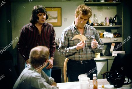 Graham Haberfield (as Jerry Booth), Neville Buswell (as Ray Langton) and Peter Adamson (as Len Fairclough)