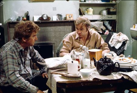 Peter Adamson (as Len Fairclough) and Graham Haberfield (as Jerry Booth)