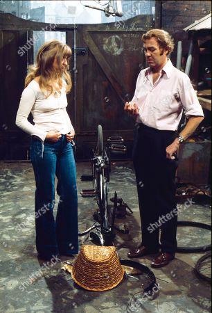 Helen Worth (as Gail Platt) and Graham Haberfield (as Jerry Booth)