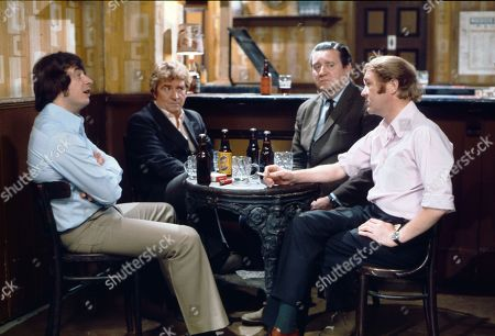 Neville Buswell (as Ray Langton), Peter Adamson (as Len Fairclough), Bryan Mosley (as Alf Roberts) and Graham Haberfield (as Jerry Booth)