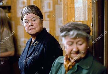 Stock Image of Violet Carson (as Ena Sharples) and Margot Bryant (as Minnie Caldwell)
