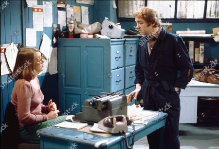 Stock Image of Anne Kirkbride (as Deirdre Hunt) and Graham Haberfield (as Jerry Booth)