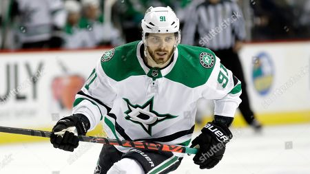 Dallas Stars' Tyler Seguin (91) during the second period of an NHL hockey game against the New York Islanders, in New York