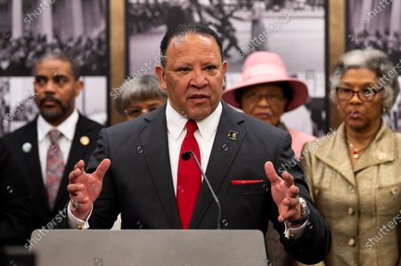 United States: Marc Morial, President and CEO of Urban League, speaks at the Congressional Black Caucus prebuttal to the State of the Union address in Washington, DC.