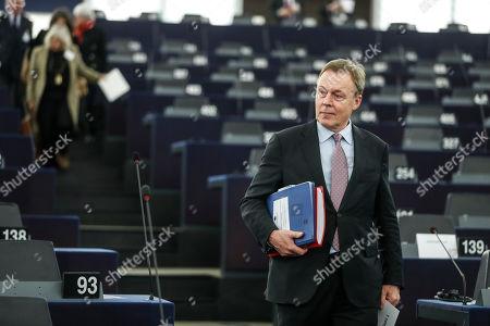 German Bundestag Vice President Thomas Oppermann arrives at the European parliament, in Strasbourg, eastern France