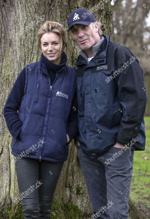 Victoria Aspinall and Damian Aspinall Aspinall inside the Wild Animal Park.
