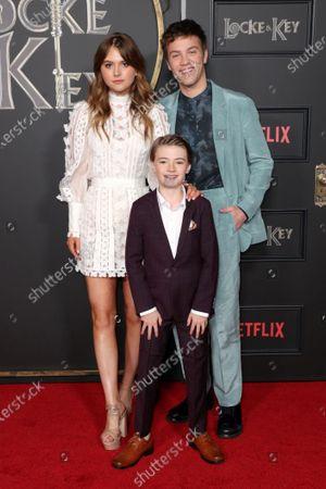 Emilia Jones, Jackson Robert Scott and Connor Jessup