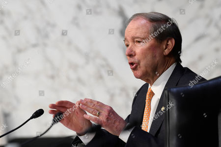 """Sen. Tom Udall, D-N.M., speaks during a Senate Commerce, Science, and Transportation Committee hearing on Capitol Hill in Washington, titled, """"Athlete Safety and the Integrity of U.S. Sport"""