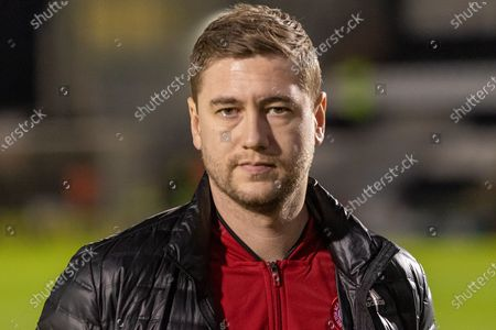 Steve Davies of Hamilton Academical ahead of the Ladbrokes Scottish Premiership match between St Mirren and Hamilton Academical FC at the Simple Digital Arena, Paisley