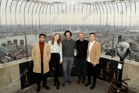 """Editorial picture of Empire State Building Host Kumail Nanjiani, Emily V. Gordon with shows Producers of Apple's Critically Acclaimed New Series """"Little America"""", New York, USA - 05 Feb 2020"""