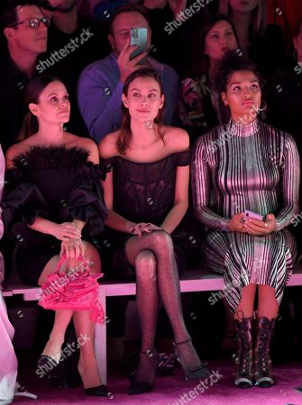 Rachel Bilson, Alexa Chung, and Indya Moore in the front row