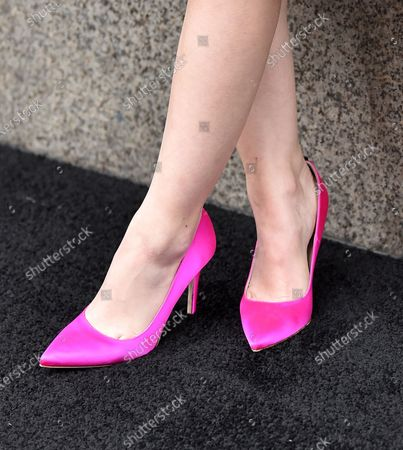 Stock Picture of Lucy Hale, shoe detail