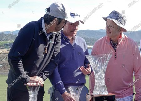 Bill Murray, and his team Ray Romano and Clay Walker here, wins the 3M Celebrity Challenge for their various charities prior to the AT&T Pro-Am PGA Golf event