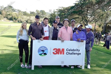 Stock Picture of Kira Dixon, Josh Duhamel, Nick Faldo, Clint Eastwood, Kyle Rudolph, Bill Murray, Ray Romano, Alfonso Ribeiro and Clay Walker prior to the 3M Celebrity Challenge