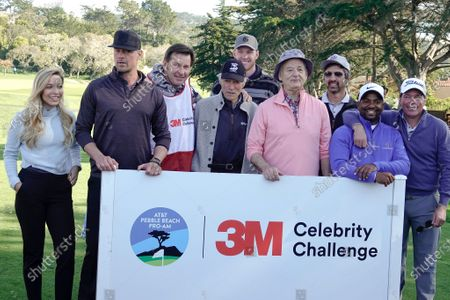 Kira Dixon, Josh Duhamel, Nick Faldo, Clint Eastwood, Kyle Rudolph, Bill Murray, Ray Romano, Alfonso Ribeiro and Clay Walker prior to the 3M Celebrity Challenge