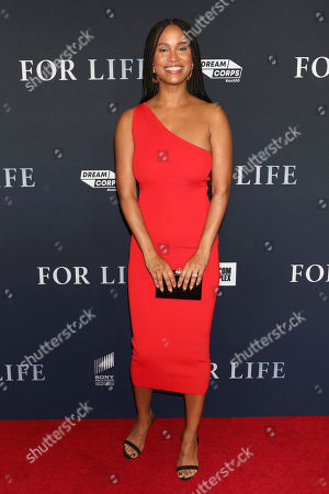 """Joy Bryant attends the premiere of ABC's """"For Life,"""" at Alice Tully Hall, in New York"""