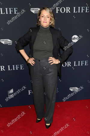 """Mary Stuart Masterson attends the premiere of ABC's """"For Life,"""" at Alice Tully Hall, in New York"""