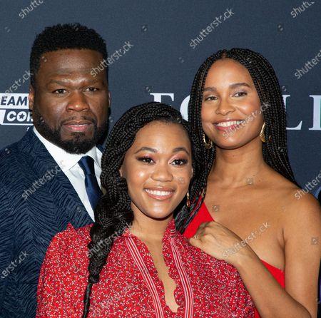 50 Cent, Tyla Harris and Joy Bryant