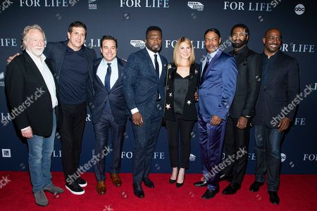 Timothy Busfield, Doug Robinson, Hank Steinberg, 50 Cent, Mary Stuart Masterson, Isaac Wright Jr., Nicholas Pinnock and Anthony Kapel Jones