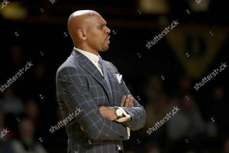 Vanderbilt coach Jerry Stackhouse watches during the first half of the team's NCAA college basketball game against LSU, in Nashville, Tenn. Vanderbilt upset LSU, 99-90