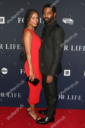 """Joy Bryant, Nicholas Pinnock. Joy Bryant and Nicholas Pinnock attend the premiere of ABC's """"For Life"""" at Alice Tully Hall, in New York"""