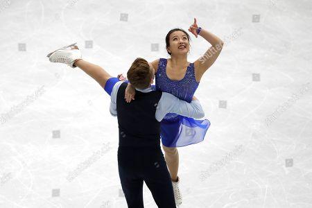 Min Yura, Daniel Eaton. South Korea's Min Yura and Daniel Eaton perform during the Ice Dance Rhythm Dance competition in the ISU Four Continents Figure Skating Championships in Seoul, South Korea