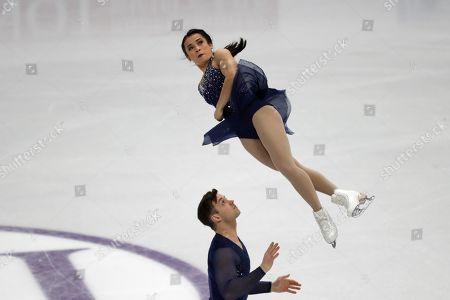 Isabella Gomez, David-Alexandre Paradis. Philippines' Isabella Gomez and David-Alexandre Paradis perform during the pair short program competition in the ISU Four Continents Figure Skating Championships in Seoul, South Korea