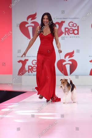 Rachel Smith with King on the catwalk