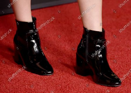 Stock Image of Alissa Skovbye, shoe detail