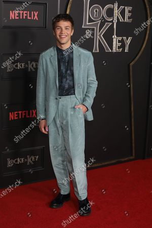 Connor Jessup arrives on the red carpet prior to the series premiere of Netflix's 'Locke and Key' at the Egyptian Theatre in Los Angeles, California, USA, 05 February 2020.