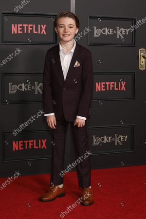 Jackson Robert Scott arrives on the red carpet prior to the series premiere of Netflix's 'Locke and Key' at the Egyptian Theatre in Los Angeles, California, USA, 05 February 2020.
