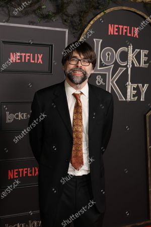 Stock Image of Joe Hill arrives on the red carpet prior to the series premiere of Netflix's 'Locke and Key' at the Egyptian Theatre in Los Angeles, California, USA, 05 February 2020.