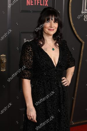 US television writer and producer Meredith Averill arrives on the red carpet prior to the series premiere of Netflix's 'Locke and Key' at the Egyptian Theatre in Los Angeles, California, USA, 05 February 2020.