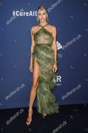 Devon Windsor attends the amfAR Gala New York AIDS research benefit at Cipriani Wall Street, in New York
