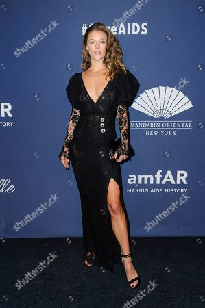 Nina Agdal attends the amfAR Gala New York AIDS research benefit at Cipriani Wall Street, in New York