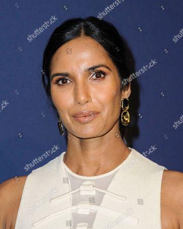 Padma Lakshmi attends the amfAR Gala New York AIDS research benefit at Cipriani Wall Street, in New York