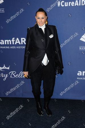 Donna Karan attends the amfAR Gala New York AIDS research benefit at Cipriani Wall Street, in New York